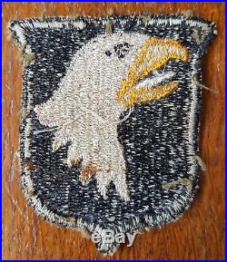 WWII US ARMY 101ST AIRBORNE SCREAMING EAGLE PATCH Early White tongue