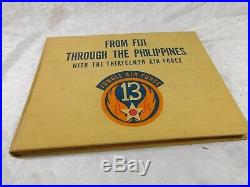 WWII US ARMY 13th JUNGLE 5th AIR FORCE ID 17 PATCHES CAP BOOK GROUPING