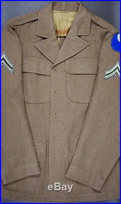 WWII US ARMY 29th INFANTRY DIVISION UNIFORM, THEATER-MADE PATCH