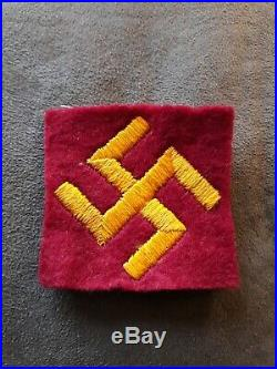 WWII US ARMY 45th INFANTRY DIVISION FELT Patch MILITARY