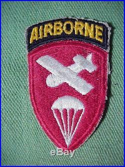 WWII US ARMY AIRBORNE Glider PATCH with OD Trim