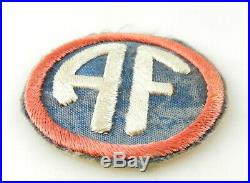 WWII US ARMY ALLIED FORCES HQ GROUND UNIT Patch MILITARY Badge T70f3