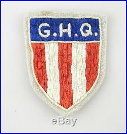 WWII US ARMY GHQ GENERAL HEADQUARTERS Patch MILITARY Badge T70c6