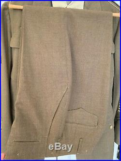 WWII US ARMY OFFICER 75th DIVISION UNIFORM JACKET WithPATCHES TROUSERS SHIRT