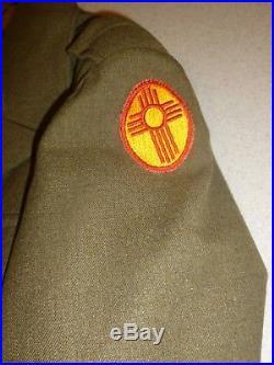 WWII US ARMY Wool Field Jacket 42L Pants Sergeant Uniform Patch 1944 38x33