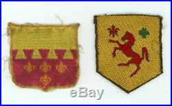 WWII US Army 113th Cavalry Group & 106th Cavalry Regiment patch SSI theatre made