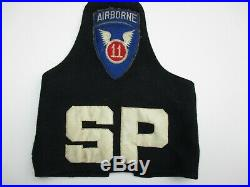 WWII US Army 11th Airborne Special Police Armband Escorted MacArthur Japan WW2