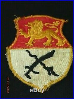 WWII US Army 15th Armored Cavalry Regiment SSI Patch Theater Made Wonderful Orig