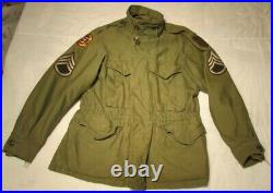 WWII US Army 1st Infantry Division M1943 Uniform Jacket Tank Destroyer Patch ID