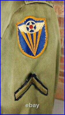 WWII US Army 4th Air Force M-1943 Field Jacket Uniform Patch