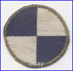 WWII US Army 4th Corps Shoulder Patch Made in Italy