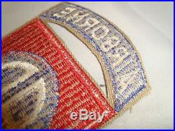 WWII US Army 82nd Airborne Division Patch withattached tab NO GLOW