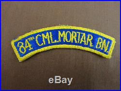 WWII US Army 84th Chemical Mortar Battalion Patch Tab NO UV GLOW