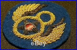 WWII US Army 8th Air Force British Made Bullion Felt Uniform Jacket Patch Pilot