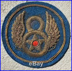WWII US Army 8th Air Force Bullion Uniform Jacket Patch British Made