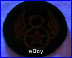 WWII US Army 8th Air Force Felt British Made Bullion Uniform Jacket Patch Pilot