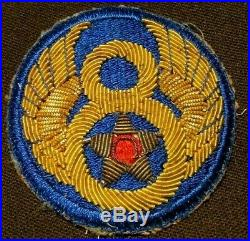 WWII US Army 8th Air Force Gemsco Embroidered Bullion Uniform Jacket Patch Pilot