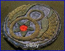 WWII US Army 8th Air Force Silk British Made Bullion Uniform Jacket Patch Pilot