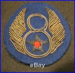 WWII US Army 8th Air Force felt British Made Bullion Uniform Jacket Patch Pilot