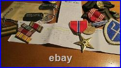 WWII US Army 97th Infantry Division Dog Tags Uniform Patch Medal Ribbons CIB Pin