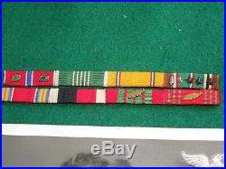 WWII US Army 9th Infantry Division Colonel BSM SS Ribbon Photo Patch Lot Group