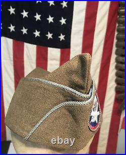 WWII US Army AIRBORNE PARATROOPER Uniform OVERSEAS CAP 101st 82nd Named Patch