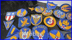 WWII US Army Air Corps Patch Lot 14th 20th 8th and Others