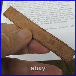 WWII US Army Air Force A2 Jacket Leather Name Tag B-17 Combat Pilot withOrig photo