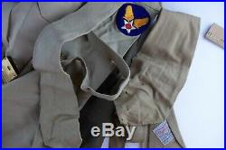 WWII US Army Air Force AAF Full Uniform with Patches, Named, Ike Jacket Pants