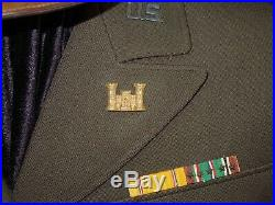 WWII US Army Air Force IX Aviation Engineer Named Uniform Cap Extra Patches Lot
