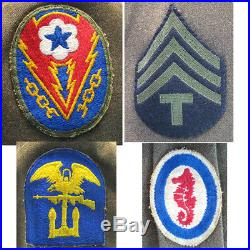 WWII US Army Air Force Named Ike Jacket & Cap, Patches & Ribbons