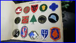 WWII US Army Embroided Insignia Album Patches Paratrooper 1st SSF