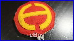WWII US Army Hawaiian Department ALL FELT Metal Backing DIsc Patch