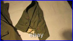 WWII US Army M-1943 Field Jacket (1945 Dated) 9th Infantry Division Patch Hood