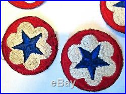 WWII US Army Military Blue Star Patch Staff Support Trial Defense
