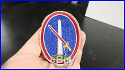 WWII US Army Military District of DC RARE UNRELEASED Version with Red White Belt
