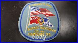 WWII US Army Navy E For Production Patch Efficiency Burkey Underwear Award