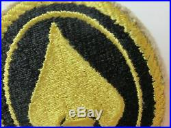 WWII US Army OSS Spear Lemon Yellow Oval FE, Pocket Patch