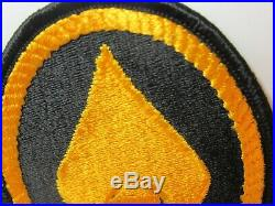 WWII US Army OSS Spear Yellow Oval FE, Pocket Patch