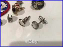 WWII US Army Paratrooper Glider Airborne Patch Medal Lot Medal Cufflinks Tie Pin