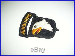 WWII US Army Screaming Eagles 101st Airborne Division Insignia Patch