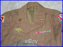 WWII US Army USMC 2nd Marine Vandegrift Uniforms Lot Patches Ribbon Bars Named