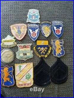 WWII US Army USMC Armor Tank Airborne Infantry Cavalry Regiment Twill Patch Lot