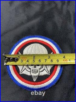 WWII US Army Winged Skull 502nd Parachute Infantry Patch Original