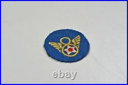 WWII U. S. 8th ARMY AIR FORCE STUBBY WING PATCH BRITISH MADE
