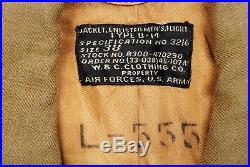 WWII U. S. ARMY AIR CORPS 8th AIR FORCE ENLISTED MAN'S B-14 JACKET BRIT PATCH
