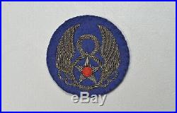 WWII U. S. ARMY AIR CORPS 8th AIR FORCE SHOULDER PATCH BRITISH MADE BULLION