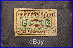 WWII U. S. ARMY AIR CORPS NAVIGATOR OFFICER'S SHIRT withTROOP CARRIER PATCH CHOCO