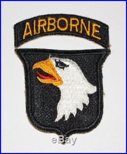 WWII U. S. Army 101st Airborne Division Greenback Shoulder Insignia Patch