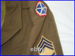 WWII Vietnam US Military Army Navy Uniform Jacket Lot Named Patches